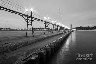Lighthouse Photograph - Grand Haven Pier And Lighthouse by Twenty Two North Photography