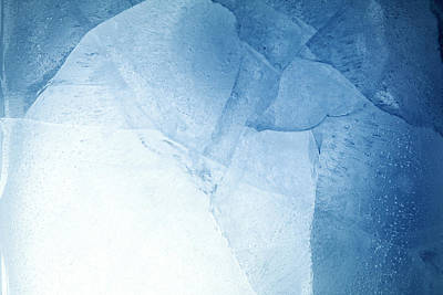 Colored Background Photograph - Ice by Les Cunliffe