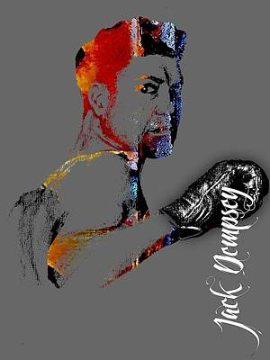 Jack Mixed Media - Jack Dempsey Collection by Marvin Blaine