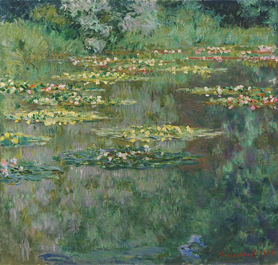 Le Bassin Des Nympheas Print by Claude Monet