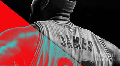 Lebron James Collection Print by Marvin Blaine