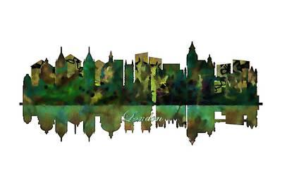 London Skyline Painting - London England Skyline by John Groves