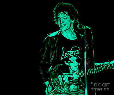 Rock And Roll Mixed Media - Lou Reed Collection by Marvin Blaine