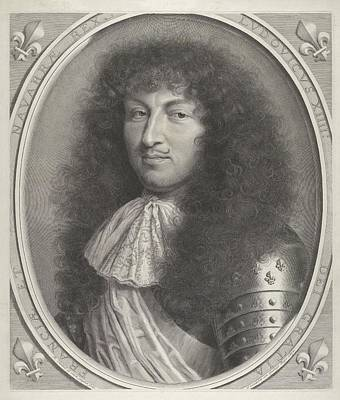 Drawing - Louis Xiv by Robert Nanteuil