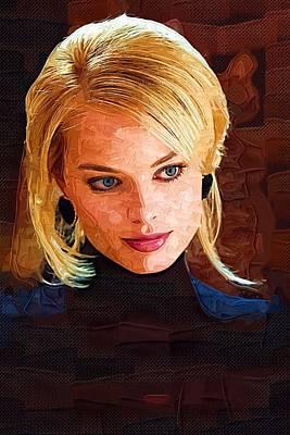 Orlando Bloom Digital Art - Margot Robbie Painting by Best Actors