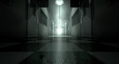 Mental Digital Art - Mental Asylum Haunted by Allan Swart