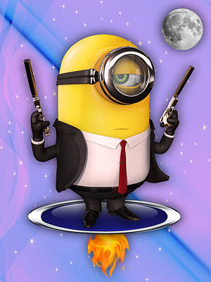 Minions Collection Print by Marvin Blaine