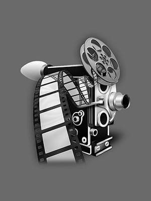 Camera Mixed Media - Movie Room Decor Collection by Marvin Blaine