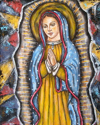 Virgen De Guadalupe Painting - Our Lady Of Guadalupe by Rain Ririn