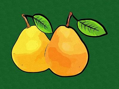 Pears Digital Art - Pears Art by Michael Vicin