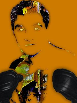Retro Mixed Media - Rocky Marciano Collection by Marvin Blaine