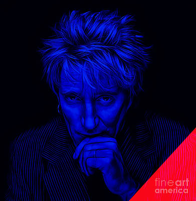 Poster Mixed Media - Rod Stewart Collection by Marvin Blaine