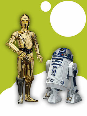 Science Fiction Mixed Media - Star Wars C3po And R2d2 Collection by Marvin Blaine