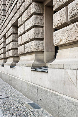 Brick Building Photograph - Stone Building by Tom Gowanlock