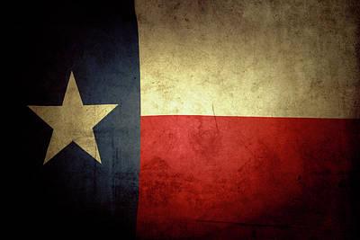 Texas Flag Print by Les Cunliffe