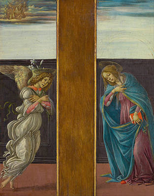 Gabriel Painting - The Annunciation by Sandro Botticelli
