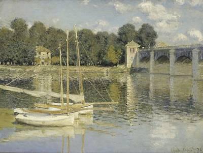 The Argenteuil Bridge Print by Claude Monet