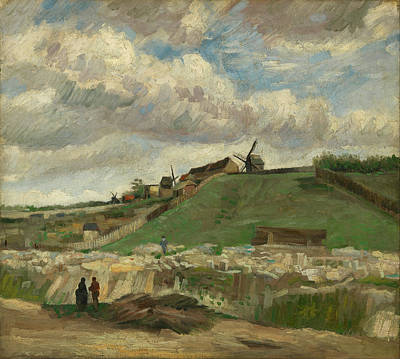 Farmland Painting - The Hill Of Montmartre With Stone Quarry by Vincent van Gogh