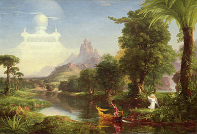 Parable Painting - The Voyage Of Life, Youth by Thomas Cole