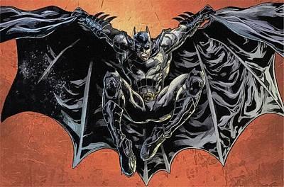 Batman Digital Art - To Batman Print by Egor Vysockiy