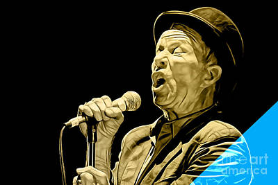 Poster Mixed Media - Tom Waits Collection by Marvin Blaine