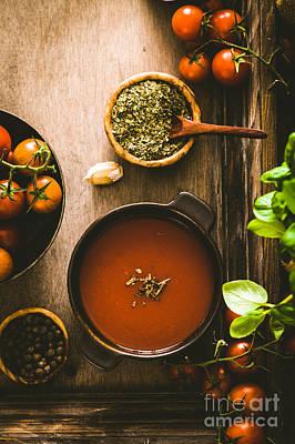 Stew Photograph - Tomato Soup by Mythja Photography