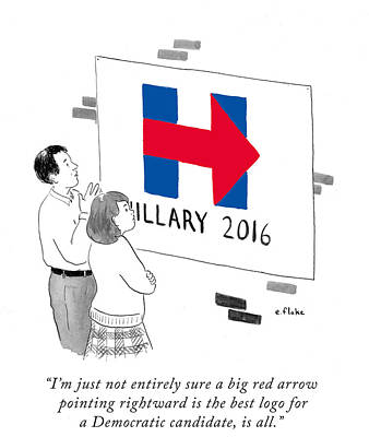 Hillary Photograph - Daily Cartoon by Emily Flake