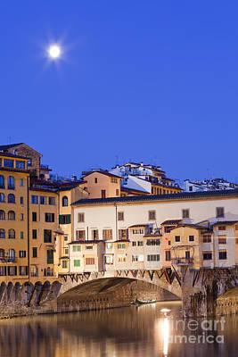 Vecchio Bridge Print by Andre Goncalves
