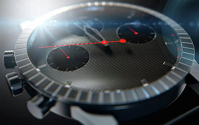 Swiss Digital Art - Watch Closeups by Allan Swart