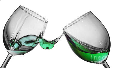 Holiday Photograph - Wine Glass Fluid Motion by Sebastien Coell