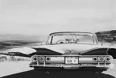 Lowrider Digital Art - 60 Impala Lowrider by Colin Tresadern