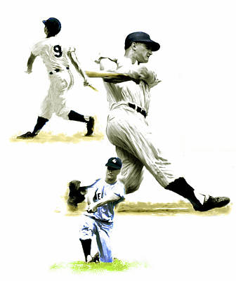 New York Yankees Drawing - 61  Roger Maris by Iconic Images Art Gallery David Pucciarelli
