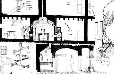 Radiator Drawing - 6.12.hungary-2-detail-b by Charlie Szoradi