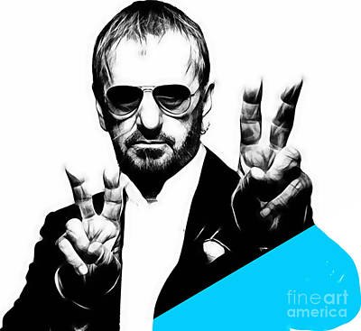 Ringo Starr Collection Print by Marvin Blaine