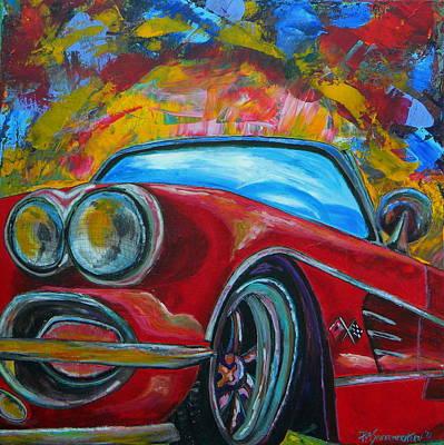 Convertible Painting - 62 Vet by Patti Schermerhorn