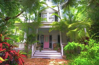John Adams Painting - 620 Elizabeth Street - Key West Florida by John Adams