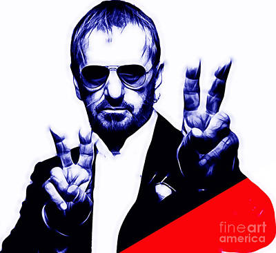 Stars Mixed Media - Ringo Starr Collection by Marvin Blaine