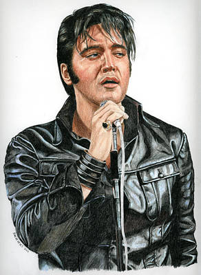 Singer Drawing - 68 Comeback by Rob De Vries