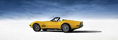 Sting Ray Digital Art - '69 Corvette Sting Ray by Douglas Pittman