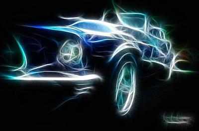 69 Mustang Mach 1 Fantasy Car Print by Paul Ward