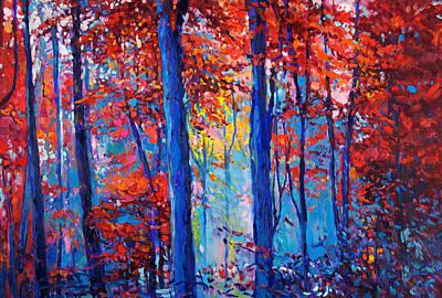 Autumn Landscape By Ivailo Nikolov Print by Boyan Dimitrov