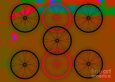 Bicycles Mixed Media - Bicycle Wheel Collection by Marvin Blaine
