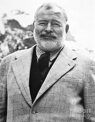 Photograph - Ernest Hemingway by Granger