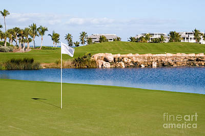 Florida Gold Coast Resort Golf Course Print by ELITE IMAGE photography By Chad McDermott