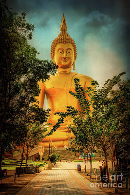 Golden Buddha Print by Adrian Evans