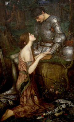 Lamia Print by John William Waterhouse