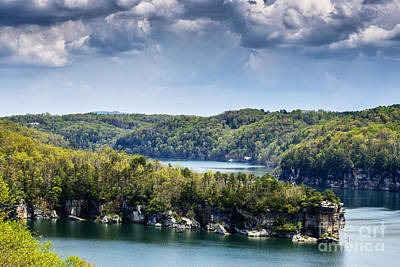 Long Point Summersville Lake Print by Thomas R Fletcher