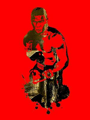 Retro Mixed Media - Mike Tyson Collection by Marvin Blaine