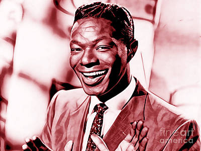 Musicians Mixed Media - Nat King Cole Collection by Marvin Blaine
