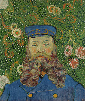 Aged Painting - Portrait Of Joseph Roulin by Vincent van Gogh